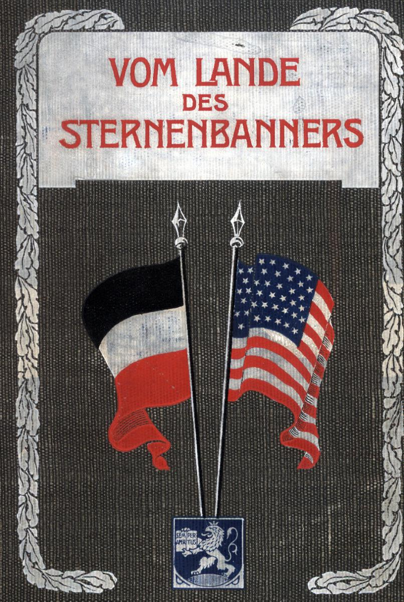 "Cover of ""Vom Lande des Sternenbanners,"" poems by Neeff"
