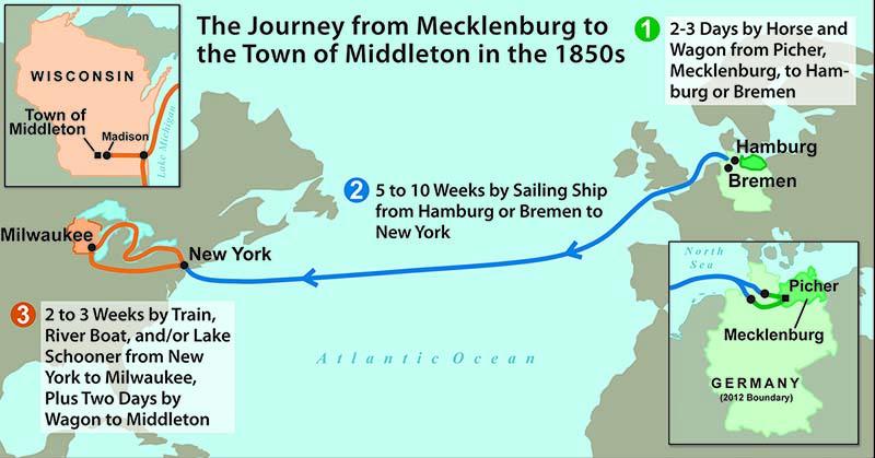 Mecklenburg-Middleton map