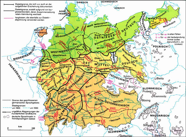 German-dialects-Europe
