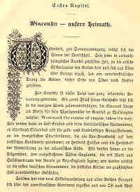 Page 1 of 'Wisconsin's Deutsch-Amerikaner bis zum Schluß des neunzehnten Jahrhunderts'