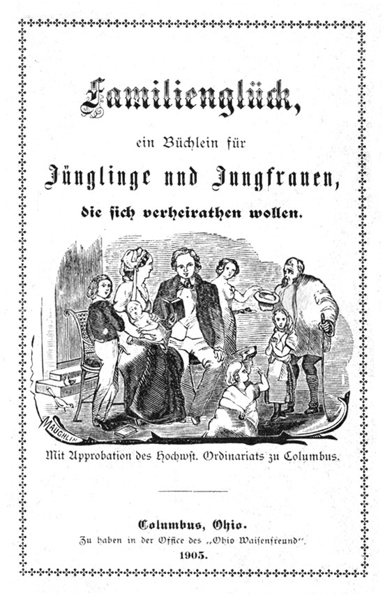 Title page from a guide to marriage for young people