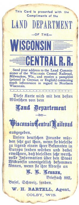 Land sale announcement card