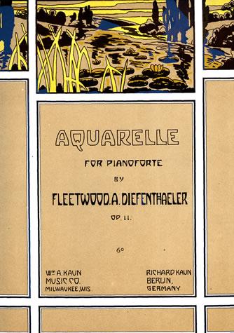 William Kaun's publication of Aquarelle