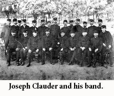Joseph Clauder and his band.