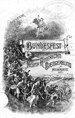 Cover announcing the Bundesfest in Milwaukee