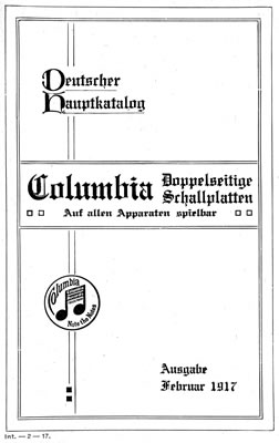 Columbia title in German