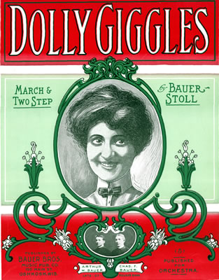Cover of Bauer's Dolly Giggles sheet music