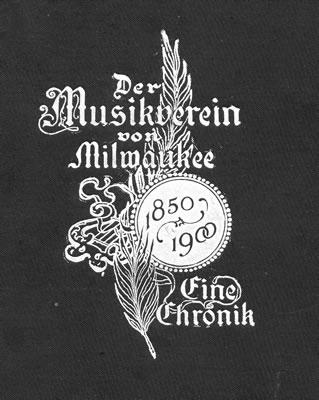 Der Musikverein von Milwaukee Singing Society notice