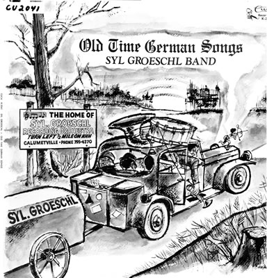 Cover of the Old Time German Songs Album by the Syl Groeschl Band