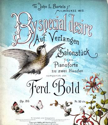 By Special Desire sheet music written by Ferdinand Bold, aka Hugo Kaun