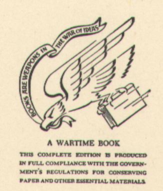 """A Wartime Book"""