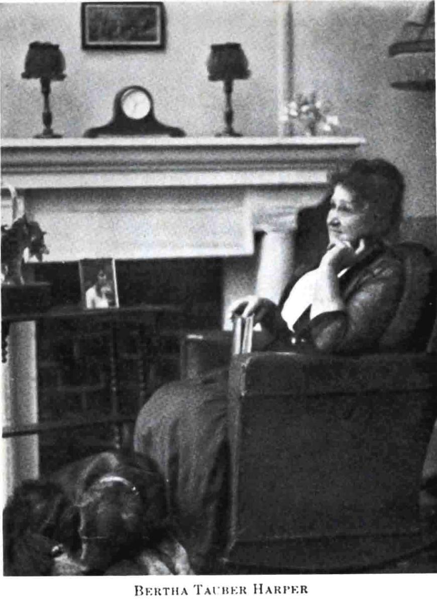 Image of Bertha Tauber Harper sitting in a chair