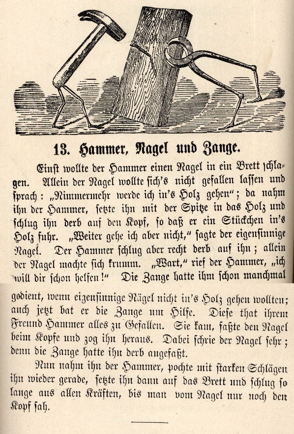 Hammer, Nagel, und Zange [Hammer, Nail, and Pliers]