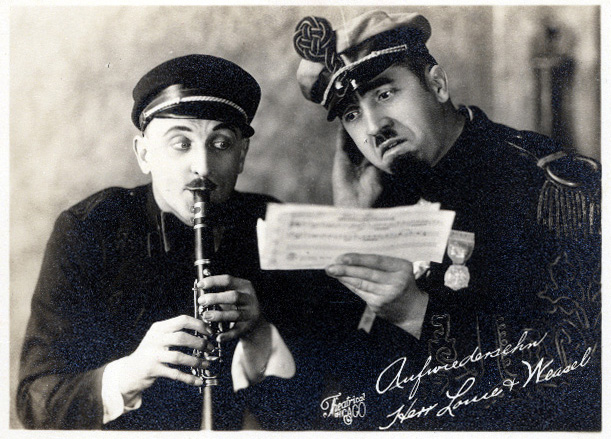 Postcard showing Herr Louis and Weasel